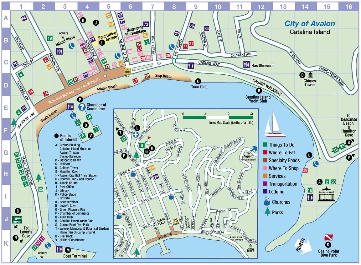 Map Of Catalina Island California Avalon, Catalina Island, California Map   Trends Media Group